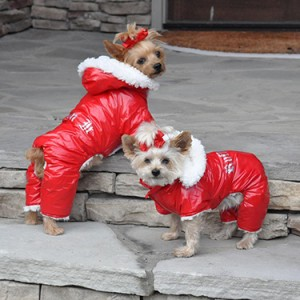 """Ruffin It"" Red Snow Suit"