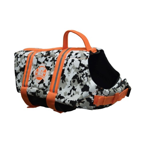 NEW Paws Aboard Black/White CAMO Neoprene Pet Life Jacket Vest