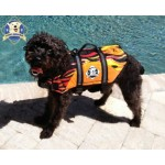 """RACING FLAMES"" Paws Aboard Designer dog Life Jacket Vest"