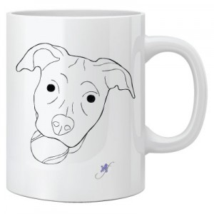 Dog With A Ball Two-Sided Mug, pack of 4, by Dog Fashion Living