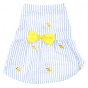 Lt. Blue Stripe Rubber Duck Dress