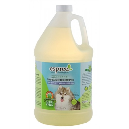 Espree Simple Shed Shampoo for Bathing Systems, 1 Gallon